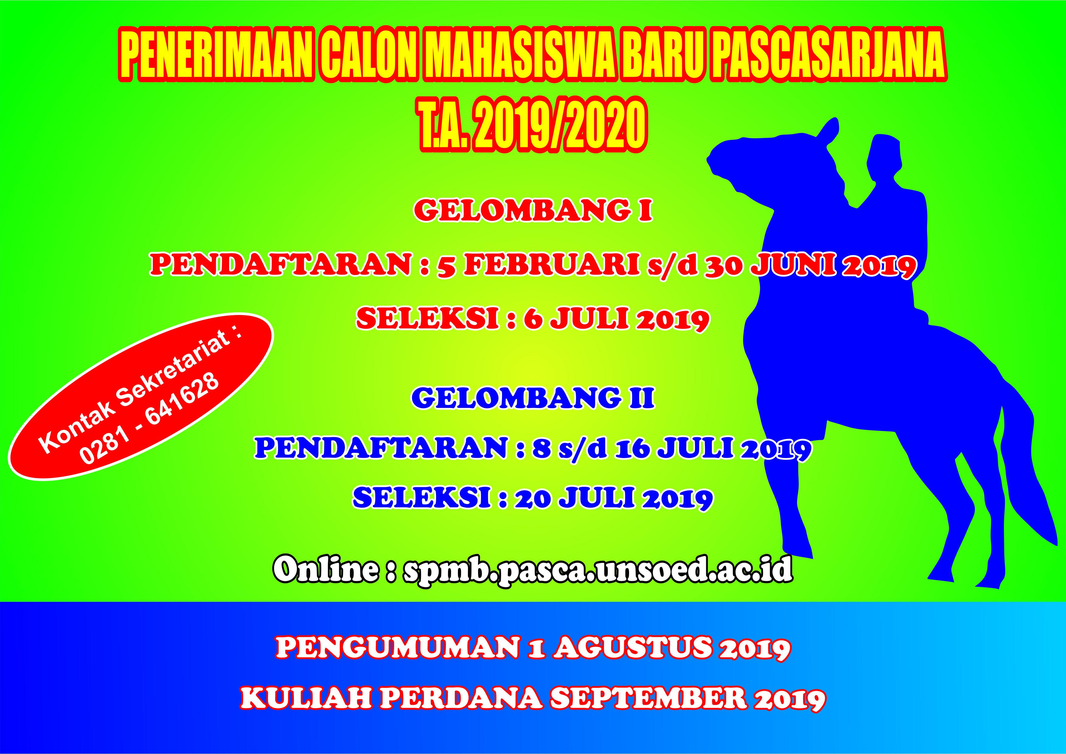 PENERIMAAN MAHASISWA BARU 2019